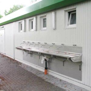Vereinsheim mit Sanitärcontainer