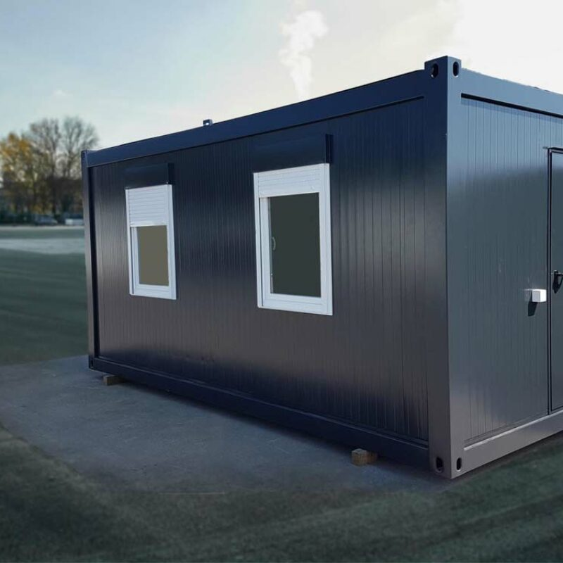 Bürocontainer in Farbe RAL 7016