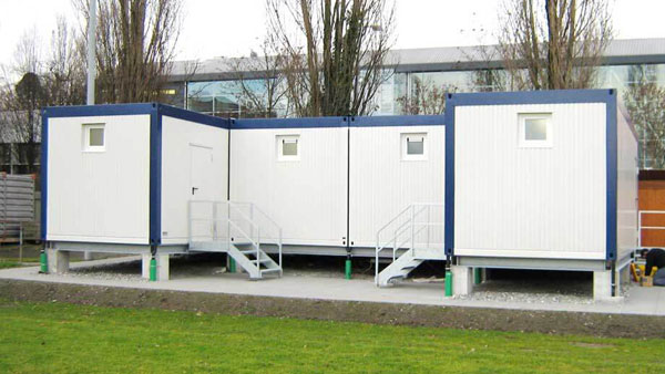 Container-Modulbau: WC-Container