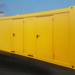 WC-Container in Sonderlackierung